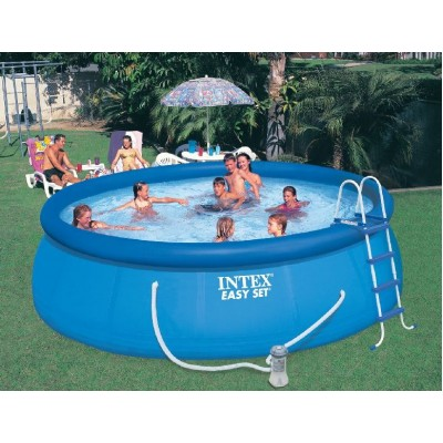 купить Надувной бассейн с надувным верхним кольцом 457х122см intex 26168 за 18500 руб. в ИНТЕКСХАУС