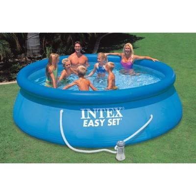 купить Надувной бассейн с надувным верхним кольцом + фильтр-насос 396х84см intex 28142 за 7400 руб. в ИНТЕКСХАУС