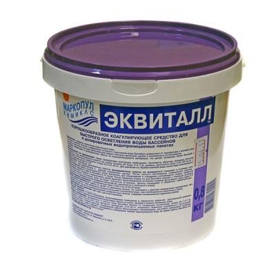 купить Эквиталл 0,8кг (порошкообразное коагулирующее средство для быстрого осветления воды) 0023 за 570руб. в ИНТЕКСХАУС