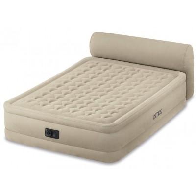 купить Кровать надувная двуспальная со спинкой и встроенным насосом 220В 152х229х79см intex 64460 за 5100руб. в ИНТЕКСХАУС