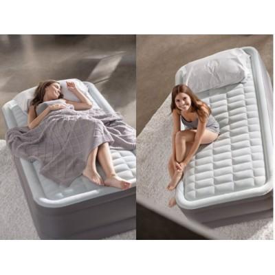 купить Кровать надувная односпальная со встроенным насосом 220В 99х191х46см intex 64472 за 4900руб. в ИНТЕКСХАУС