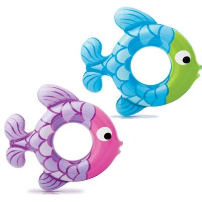 купить Круг Рыбки 77х76см, 3-6 лет, 2 вида intex 59222 за 160руб. в ИНТЕКСХАУС