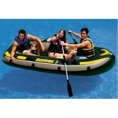 купить Лодка надувная 3-х местная Seahawk 3 295х137х43см intex 68349 (без вёсел и насоса) за 4890руб. в ИНТЕКСХАУС
