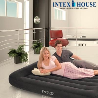 купить Матрас надувной двуспальный (без насоса) 183х203х23см intex 66770 за 1900руб. в ИНТЕКСХАУС