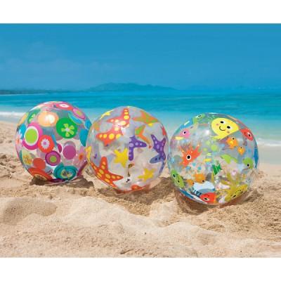купить Мяч Lively 61см, от 3 лет intex 59050 за 120руб. в ИНТЕКСХАУС