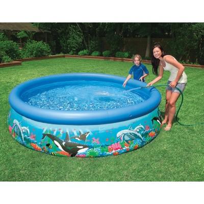 купить Надувной бассейн с надувным верхним кольцом + фильтр-насос 305х76см intex 28126 за 4730руб. в ИНТЕКСХАУС