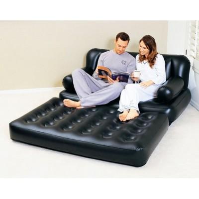 купить Надувной диван-трансформер 5 в 1 188х152х64см с насосом 220В Bestway 75038 за 2900руб. в ИНТЕКСХАУС