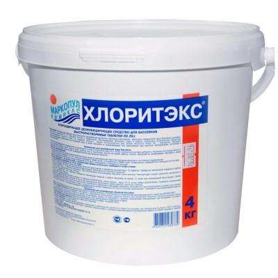 Хлоритэкс 4 кг (гранулированный быстрорастворимый хлор для дезинфекции), ведро