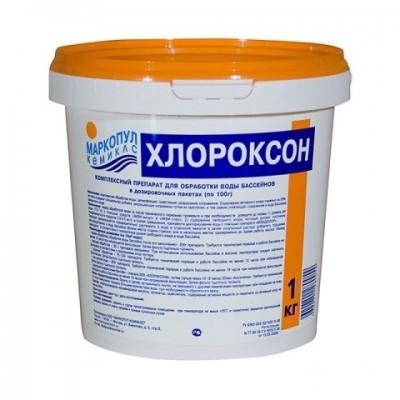 Хлороксон 1 кг (гранулированный препарат для комплексной обработки воды бассейнов), ведро
